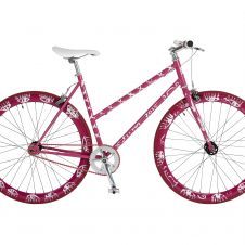 Art-Bike by Stefan Szczesny, handpainted bicycle pink