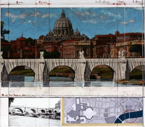Ponte Sant Angelo, Wrapped - Project for Rome