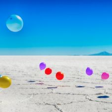 HDR Balloons on the salt flat