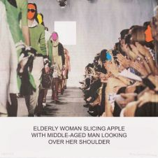 The News: Elderly Woman Slicing Apple…