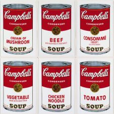 Campbell´s Soup Cans set of 10