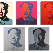 Mao Silkscreen Prints Set of 5 (by Sunday B. Morning)