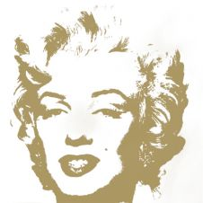 Golden Marilyn (by Sunday B. Morning)