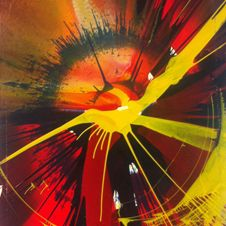 Beautiful Exploding Spinning Spiral Painting