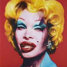 Amanda Lepore as Andy Warhol's Marilyn (red)