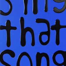 Sing That Song (black on blue)