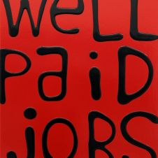 Well Paid Jobs (black on red)