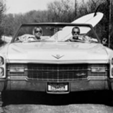 Dave and Pam in their Caddy