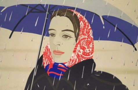 Alex Katz - Blue Umbrella, 1979-80, Lithografie