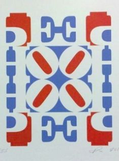Robert Indiana - Hope Wall: Red, White and Blue, 2009
