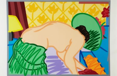 Tom Wesselmann - Judy trying on clothes, 1960