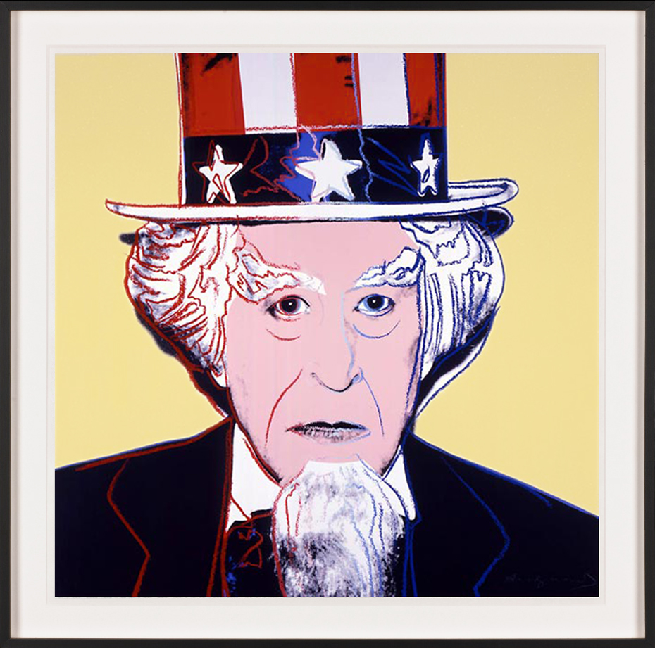 andy warhol print uncle sam. Black Bedroom Furniture Sets. Home Design Ideas