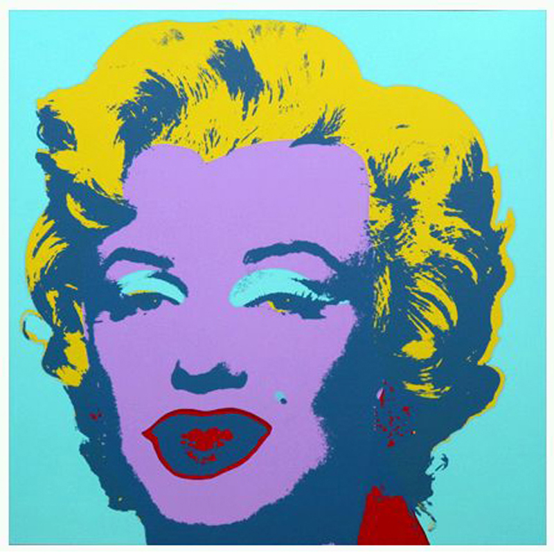 andy warhol print marilyn by sunday b morning. Black Bedroom Furniture Sets. Home Design Ideas