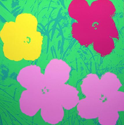 andy warhol please select flowers sunday b morning complete set of 10 color variations. Black Bedroom Furniture Sets. Home Design Ideas