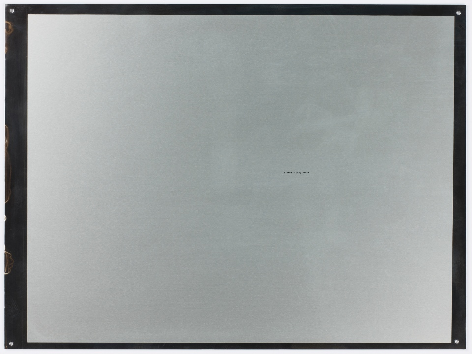 William Anastasi, Object, I Have A Tiny Penis-4756