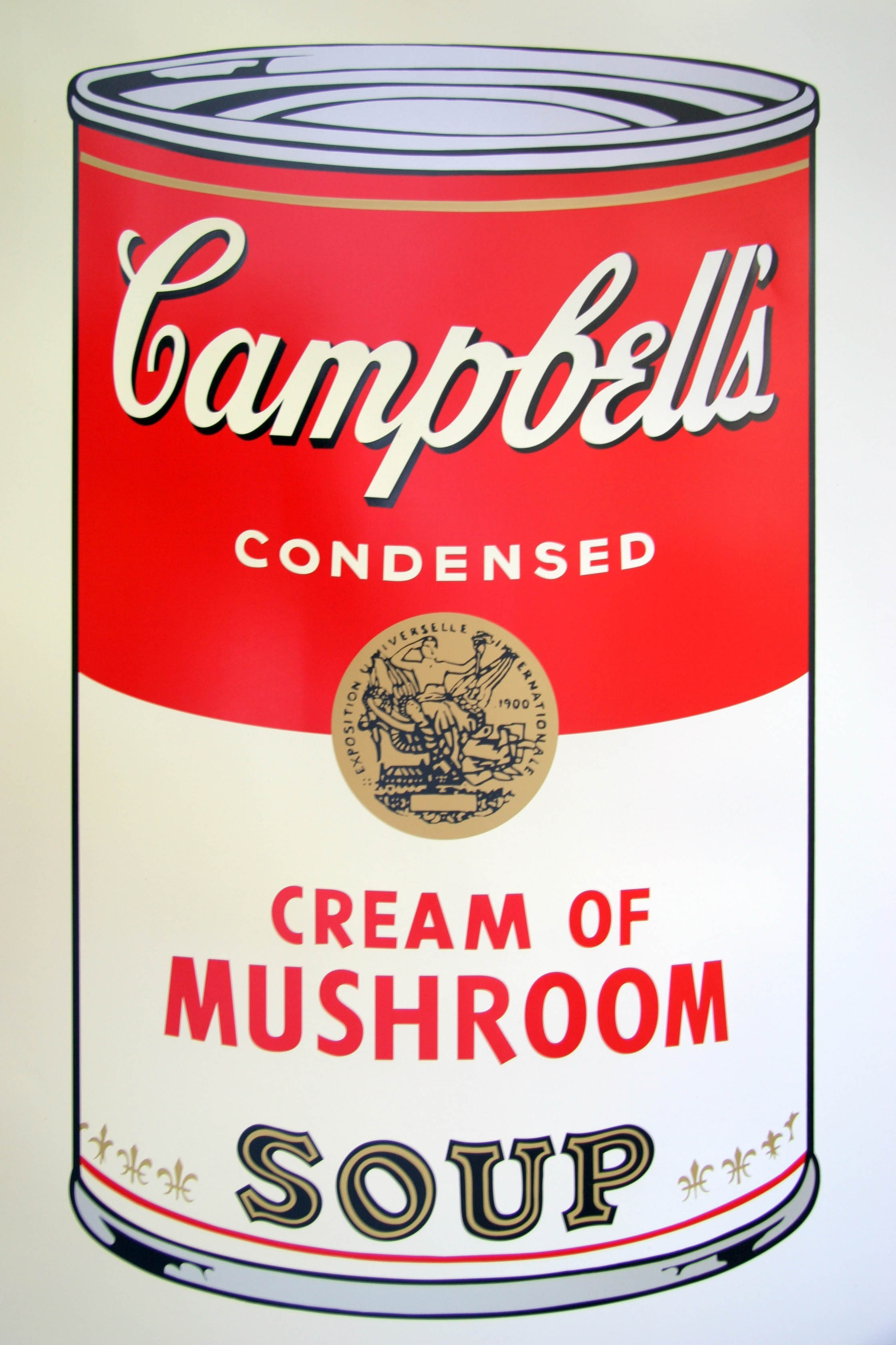 """Andy Warhol, print, Campbell´s Soup Can """"cream of mushroom"""""""